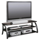 Coaster TV Stand in Black and Silver 700681