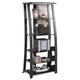 Coaster Media Tower in Black and Silver 700682