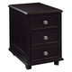 Hammary Camden-Dark Castered File/Drawer Cabinet in Black 919-941