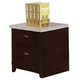 Acme Britney Faux Marble Top Lateral File Cabinet in Espresso 92010