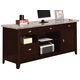 Acme Britney White Marble Top Office Desk in Espresso 92012