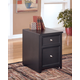 Carlyle File Cabinet in Almost Black