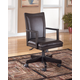 Carlyle Home Office Swivel Desk Chair in Almost Black