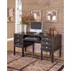 Carlyle Home Office Desk in Almost Black