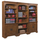 Aspenhome Centennial Bookcase Wall in Chestnut Brown