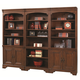 Aspenhome Richmond Bookcase Wall in Charleston Brown