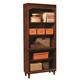 Aspenhome E2 Class Villager Open Bookcase in Warm Cherry I20-333
