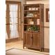 Cross Island Large Door Bookcase in Medium Brown Oak Stain