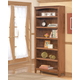 Cross Island Large Bookcase in Medium Brown Oak Stain