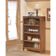 Cross Island Medium Bookcase in Medium Brown Oak Stain