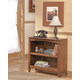Cross Island Small Bookcase in Medium Brown Oak Stain