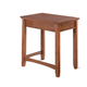 Cross Island Home Office Corner Table in Medium Brown Oak Stain