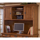 Cross Island Home Office Tall Desk Hutch in Medium Brown Oak Stain
