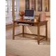 Cross Island Home Office Small Leg Desk in Medium Brown Oak Stain