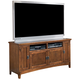 Cross Island Large TV Stand in Medium Brown Oak Stain