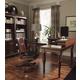 Aspenhome E2 Class Villager Home Office Curve L-Desk Set in Warm Cherry