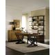 Hooker Furniture Palisade 2-Piece Writing Desk Set in Brown