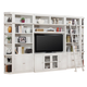 Parker House Boca 6 Piece Entertainment Wall with Ladder in Cottage White
