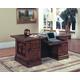 Parker House Barcelona Double Pedestal Executive Desk in Vintage Walnut BAR#480-3