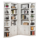 Parker House Boca Corner  Bookcase Wall in Cottage White CODE:UNIV20 for 20% off