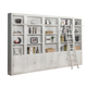Parker House Boca Inset Bookcase Wall with Ladder in Cottage White