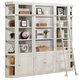 Parker House Boca 5 Piece Bookcase Wall with Ladder in Cottage White