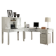 Parker House Boca 5-Piece L-Shaped Modular Office Desk in Cottage White