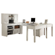 Parker House Boca 7-Piece U-Shaped Modular Office in Cottage White SPECIAL CODE:UNIV30 for 30% Off