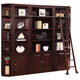 Parker House Boston 6 Piece Library Entertainment Wall with Ladder in Merlot
