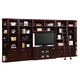 Parker House Boston 8 Piece Library Entertainment Wall with Ladder in Merlot