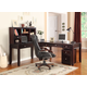 Parker House Boston Modular L-Shaped Desk w/Hutch and Rolling File in Merlot