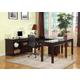 Parker House Boston U-Shaped Credenza Desks with Rolling File in Merlot