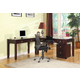 Parker House Boston Modular L-Shaped Desk with Rolling File in Merlot