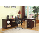 Parker House Boston L-Shaped Credenza with Rolling File in Merlot