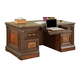 Parker House Corsica Double Pedestal Executive Desk in Dark Chocolate COR#480-3
