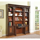 Parker House Corsica 4 Piece Library Bookcase Wall in Dark Chocolate