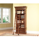 Parker House Grand Manor Granada Museum Bookcase with Ladder in Vintage Walnut