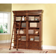 Parker House Grand Manor Granada 2Pc Museum Bookcase with Ladder in Vintage Walnut