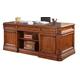 Parker House Grand Manor Granada Double Pedestal Executive Desk in Vintage Walnut GGRA#9080-3