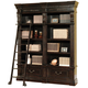 Parker House Grand Manor Palazzo 2Pc Museum Bookcase with Ladder in Burnished Black