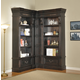 Parker House Grand Manor Palazzo Corner Museum Bookcase in Burnished Black