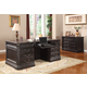 Parker House Grand Manor Palazzo Double Pedestal Executive Desk in Burnished Black
