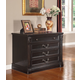 Parker House Grand Manor Palazzo Two Drawer Lateral File in Burnished Black GPAL#9075