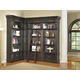 Parker House Grand Manor Palazzo 3Pc Corner Museum Bookcase with Ladder in Burnished Black