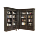 Parker House Grand Manor Palazzo 4Pc Corner Museum Bookcase with Ladder in Burnished Black