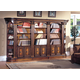Parker House Huntington 5 Piece Library Bookcase Wall in Vintage Pecan
