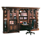Parker House Huntington 6 Piece Library Desk Wall in Vintage Pecan