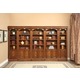 Parker House Huntington 5 Piece Inset Bookcase Wall in Vintage Pecan
