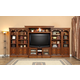 Parker House Huntington Expandable Inset Entertainment Wall in Vintage Pecan