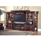 Parker House Huntington Expandable Grand Entertainment Wall in Vintage Pecan